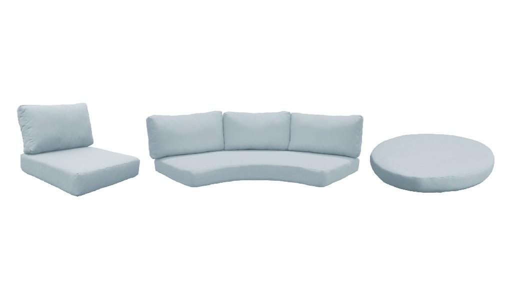 High Back Cushion Set For Fairmont-08e In Spa - Tk Classics Cushions-fairmont-08e-spa