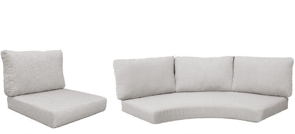 High Back Cushion Set For Fairmont-08f In Ash - Tk Classics Cushions-fairmont-08f-ash
