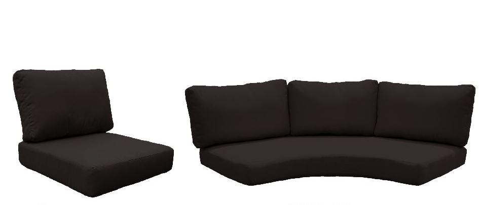 High Back Cushion Set For Fairmont-08f In Black - Tk Classics Cushions-fairmont-08f-black