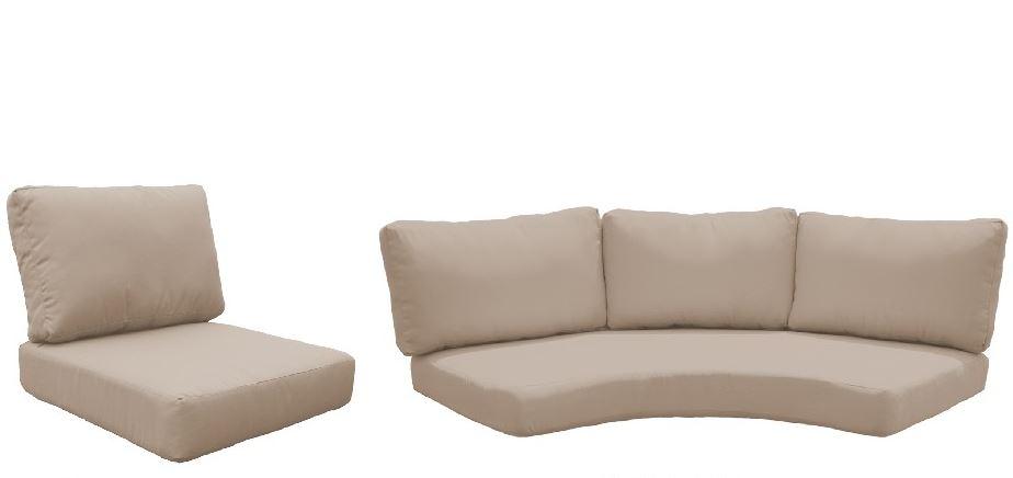 High Back Cushion Set For Fairmont-08f In Wheat - Tk Classics Cushions-fairmont-08f-wheat