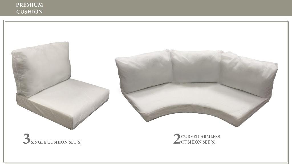 High Back Cushion Set For Fairmont-08h - Tk Classics Cushions-fairmont-08h