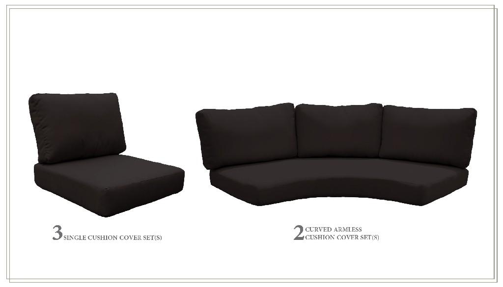 High Back Cushion Set For Fairmont-08h In Black - Tk Classics Cushions-fairmont-08h-black
