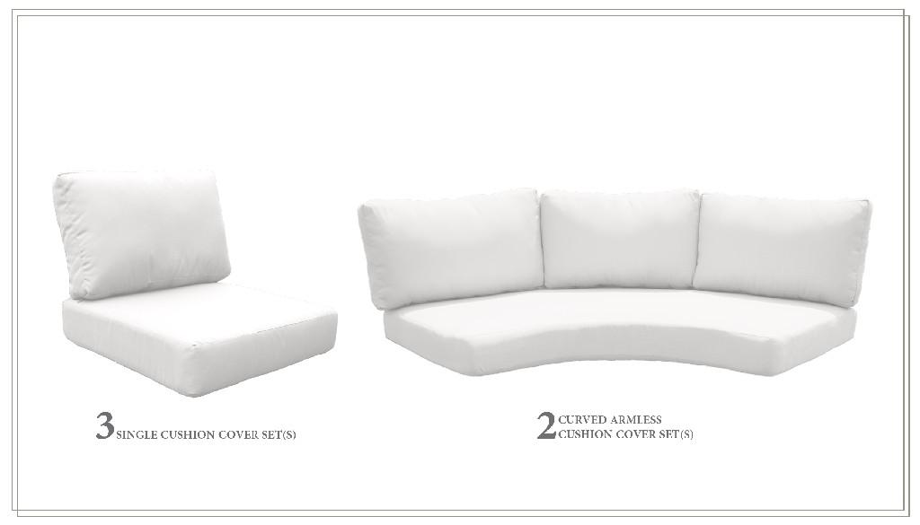 High Back Cushion Set For Fairmont-08h In Sail White - Tk Classics Cushions-fairmont-08h-white