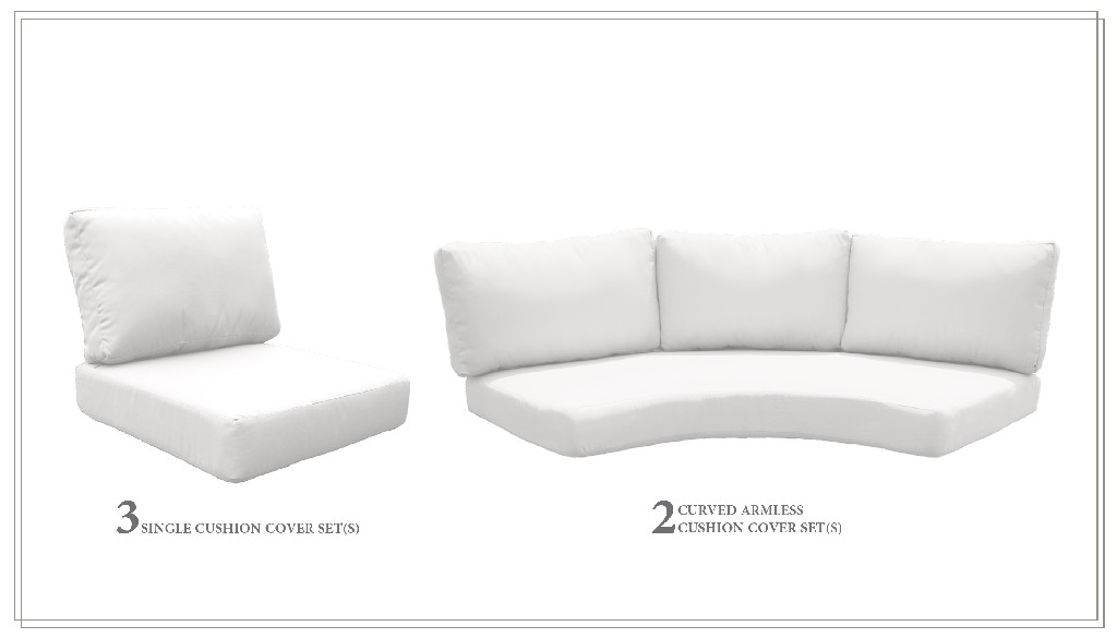 High Back Cushion Set For Fairmont-08i In Sail White - Tk Classics Cushions-fairmont-08i-white