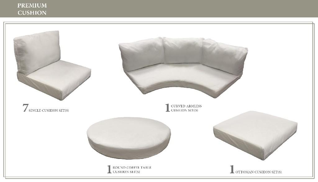 High Back Cushion Set For Fairmont-12a - Tk Classics Cushions-fairmont-12a