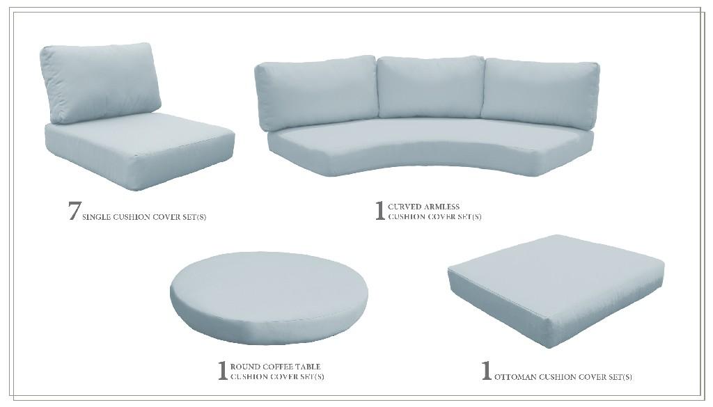 High Back Cushion Set For Fairmont-12a In Spa - Tk Classics Cushions-fairmont-12a-spa