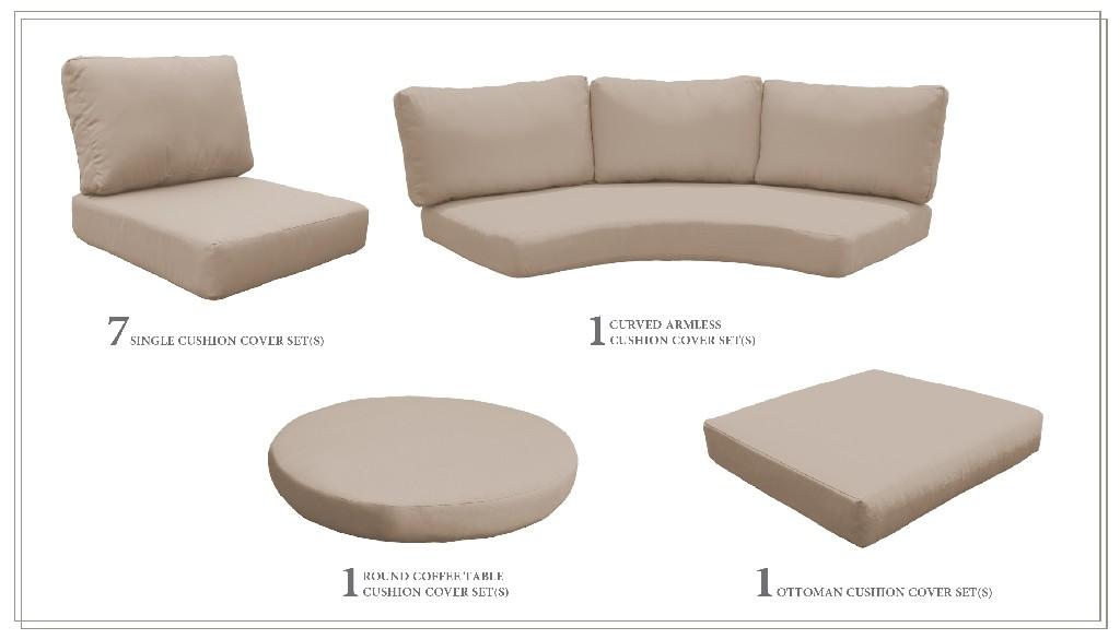 High Back Cushion Set For Fairmont-12a In Wheat - Tk Classics Cushions-fairmont-12a-wheat