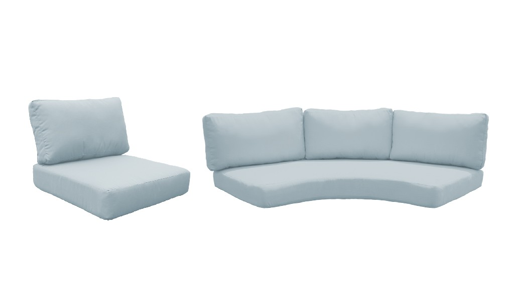 High Back Cushion Set For Florence-06a In Spa - Tk Classics Cushions-florence-06a-spa