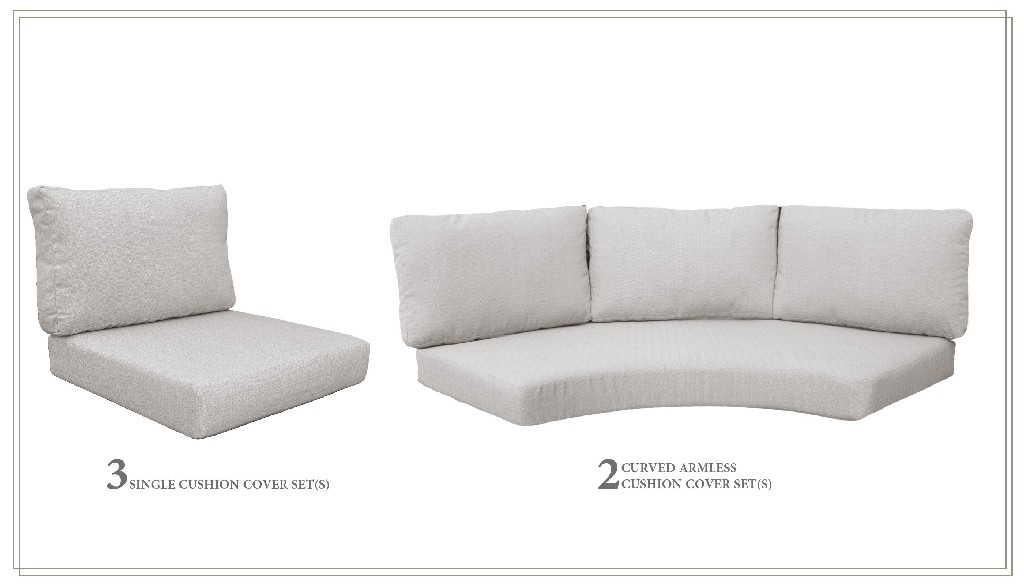 High Back Cushion Set For Florence-08f In Ash - Tk Classics Cushions-florence-08f-ash