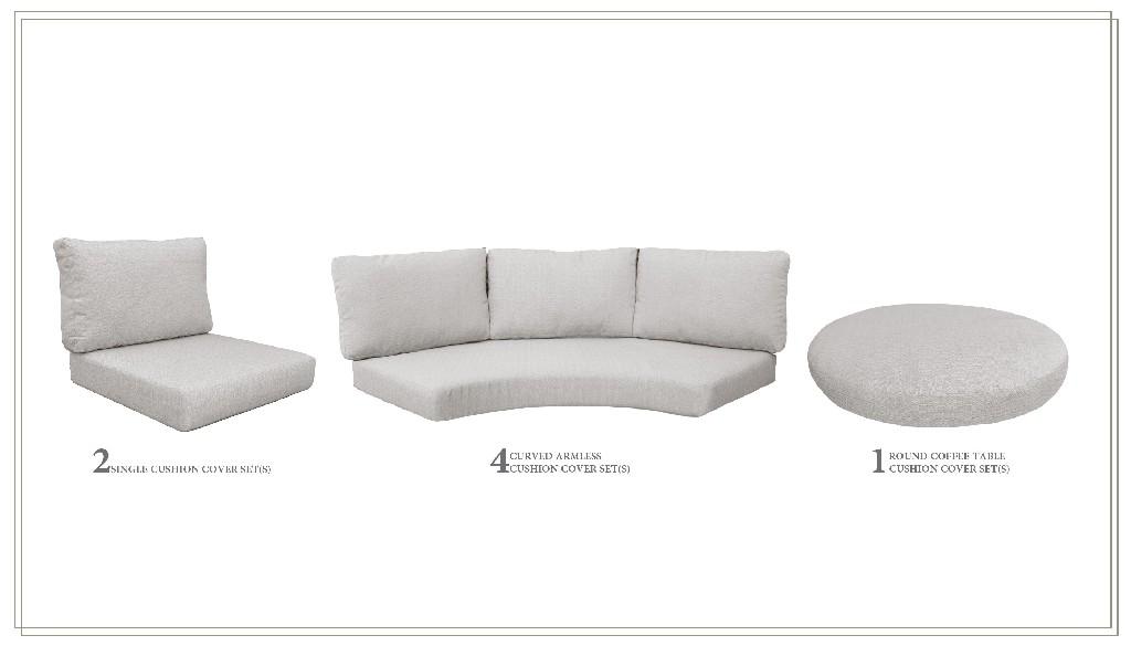 High Back Cushion Set For Florence-11b In Ash - Tk Classics Cushions-florence-11b-ash