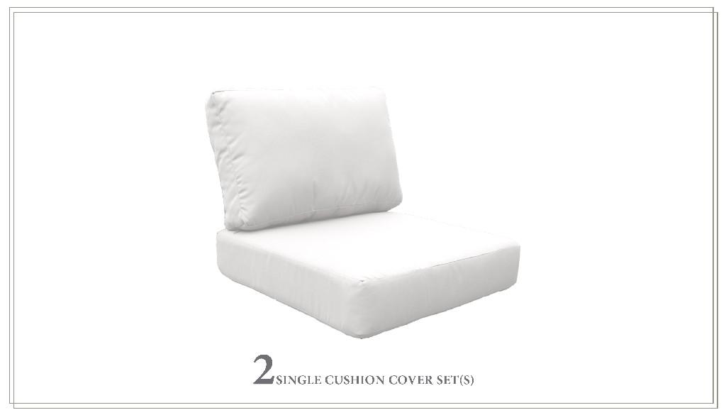 High Back Cushion Set For Miami-02a In Sail White - Tk Classics Cushions-miami-02a-white