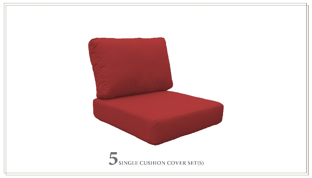 High Back Cushion Set For Miami-06f In Terracotta - Tk Classics Cushions-miami-06f-terracotta