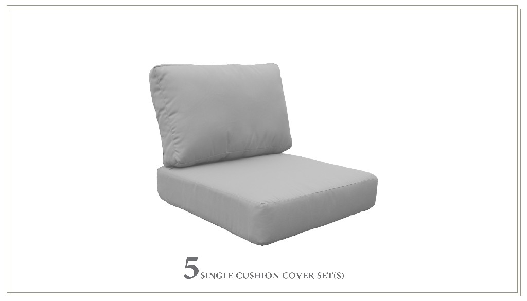 High Back Cushion Set For Miami-06i In Grey - Tk Classics Cushions-miami-06i-grey