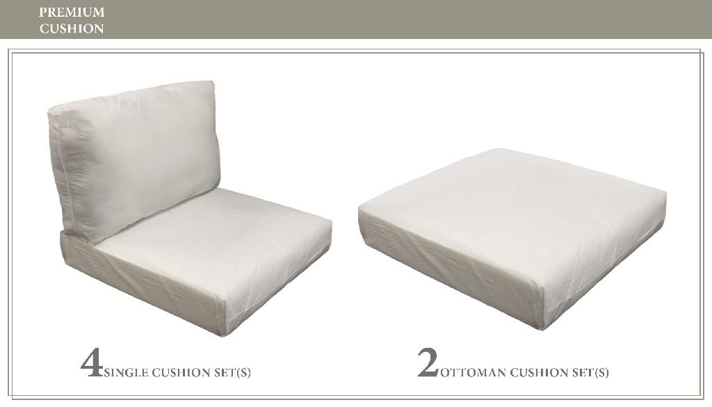 High Back Cushion Set For Miami-07b - Tk Classics Cushions-miami-07b