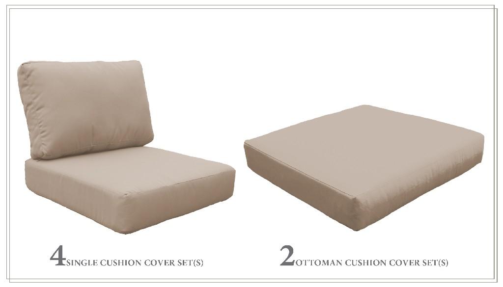 High Back Cushion Set For Miami-07b In Wheat - Tk Classics Cushions-miami-07b-wheat