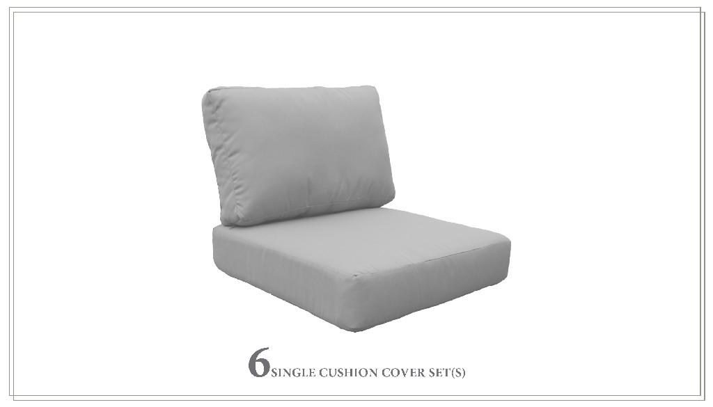 High Back Cushion Set For Miami-07c In Grey - Tk Classics Cushions-miami-07c-grey