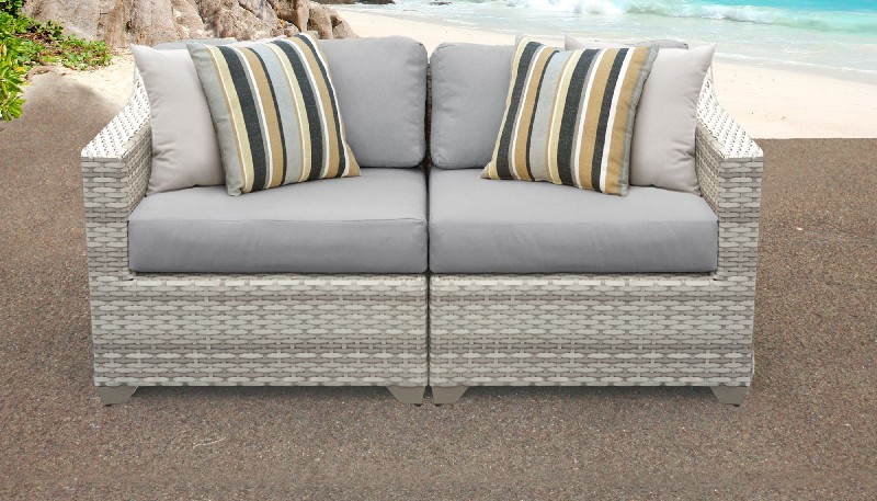 Tk Classics Outdoor Wicker Patio Set Grey