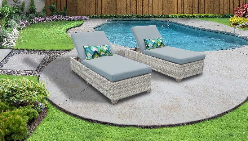 Tk Classics Chaise Outdoor Wicker Patio Spa