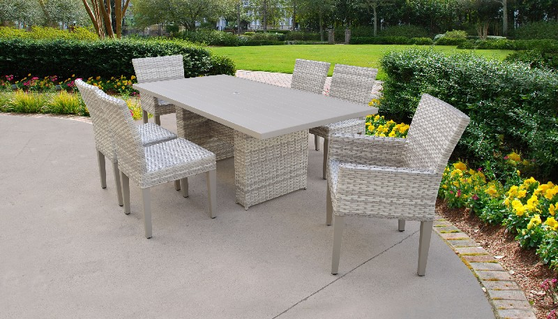 Tk Classics Furniture Dining Table Rectangular Patio Armless Chairs Chairs Arms Photo