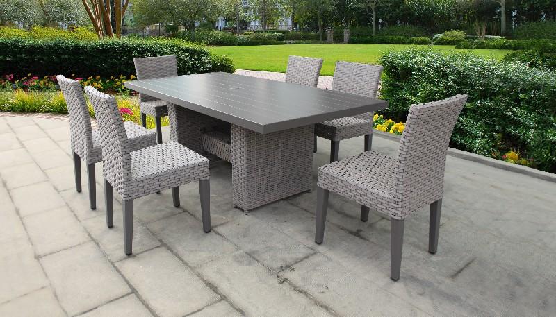 Tk Classics Furniture Dining Table Rectangular Patio Armless Chairs Photo