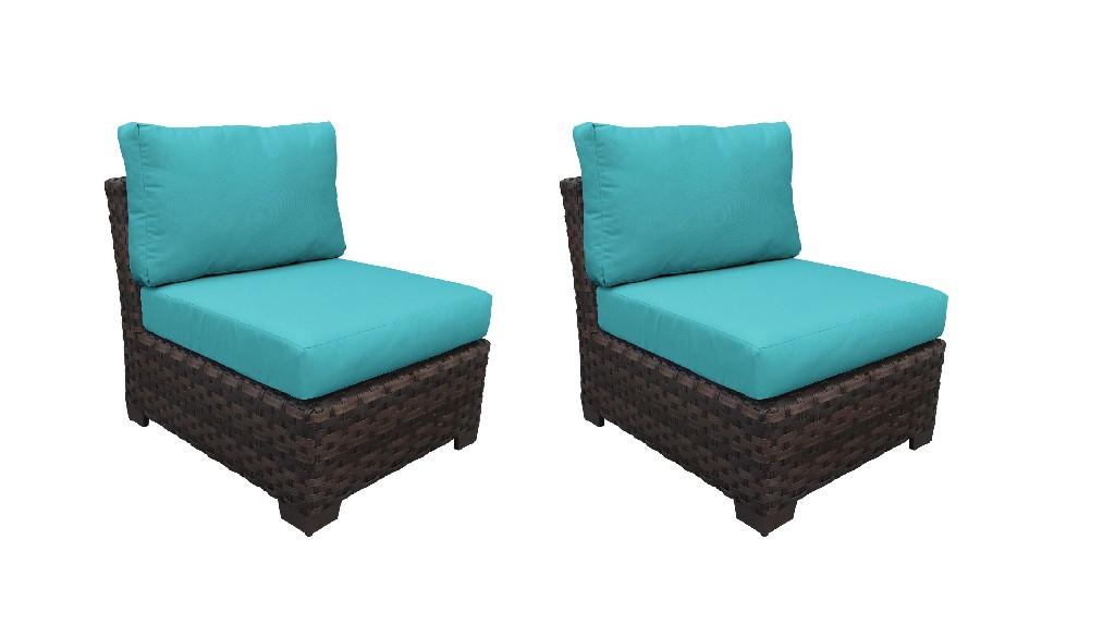 Tk Classics Armless Sofa Aqua