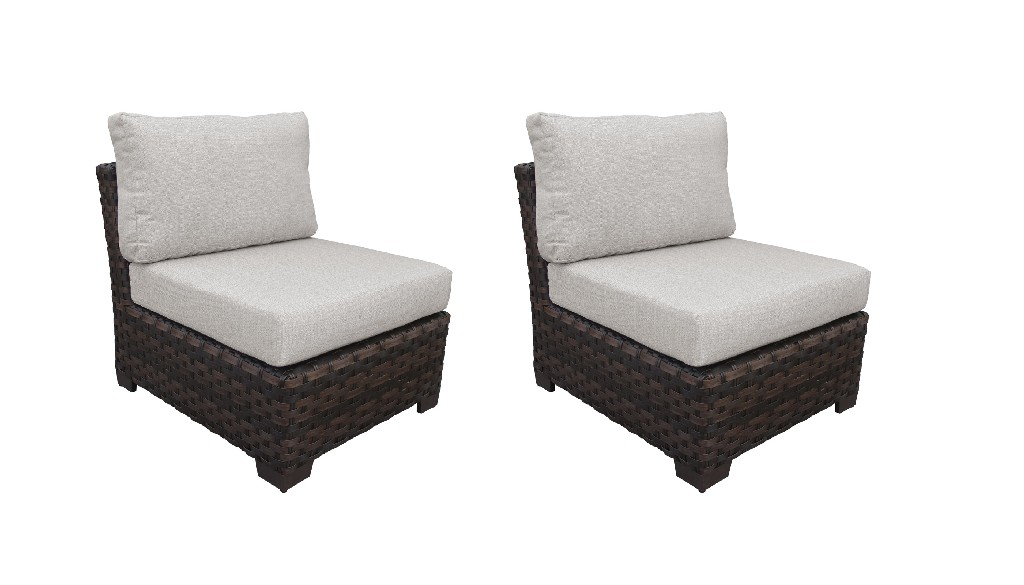 Tk Classics Armless Sofa Truffle