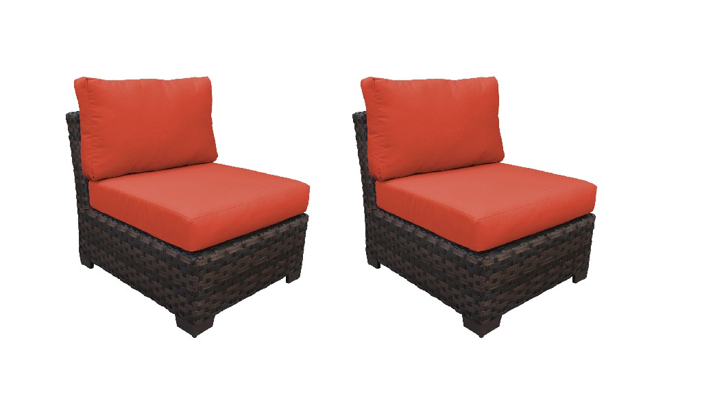 Tk Classics Armless Sofa Persimmon