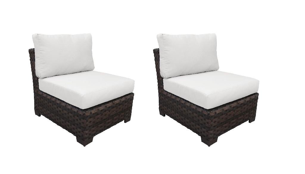 Tk Classics Armless Sofa Alabaster