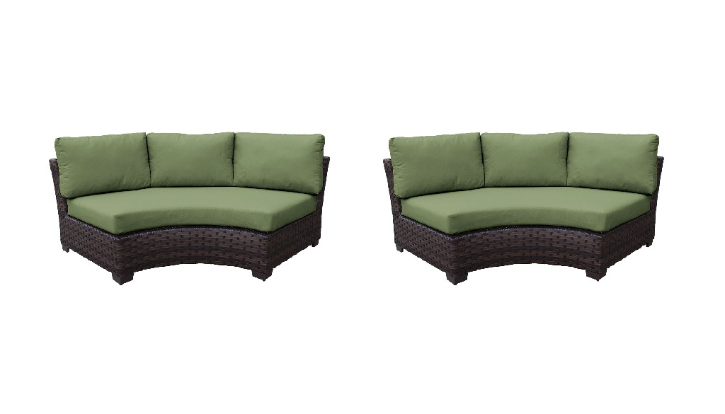 River Curved Armless Sofa Forest