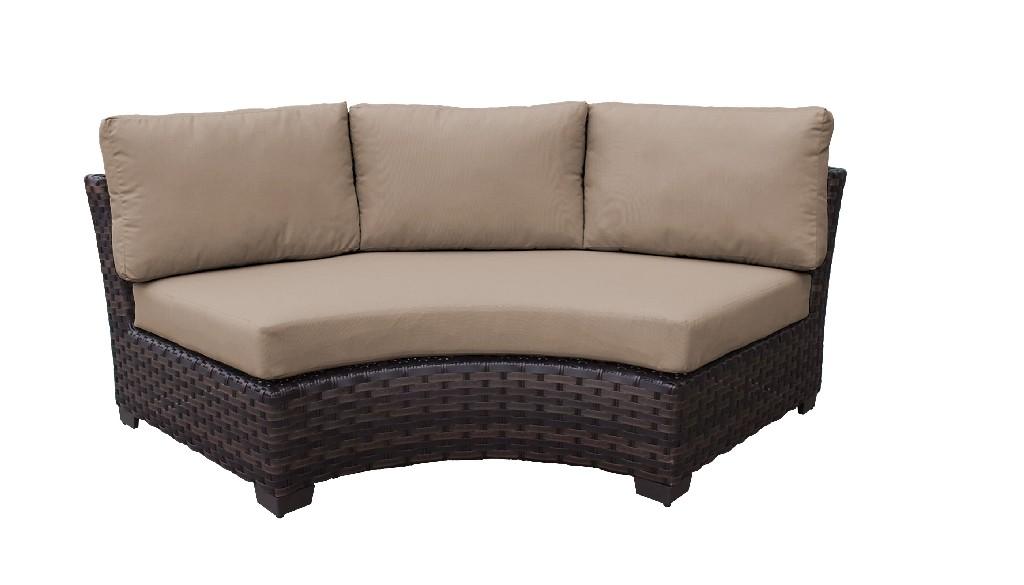 Tk Classics Curved Armless Sofa Toffee