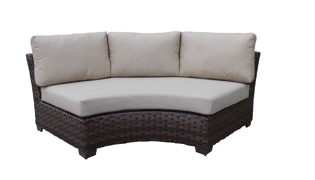 Curved Armless Sofa