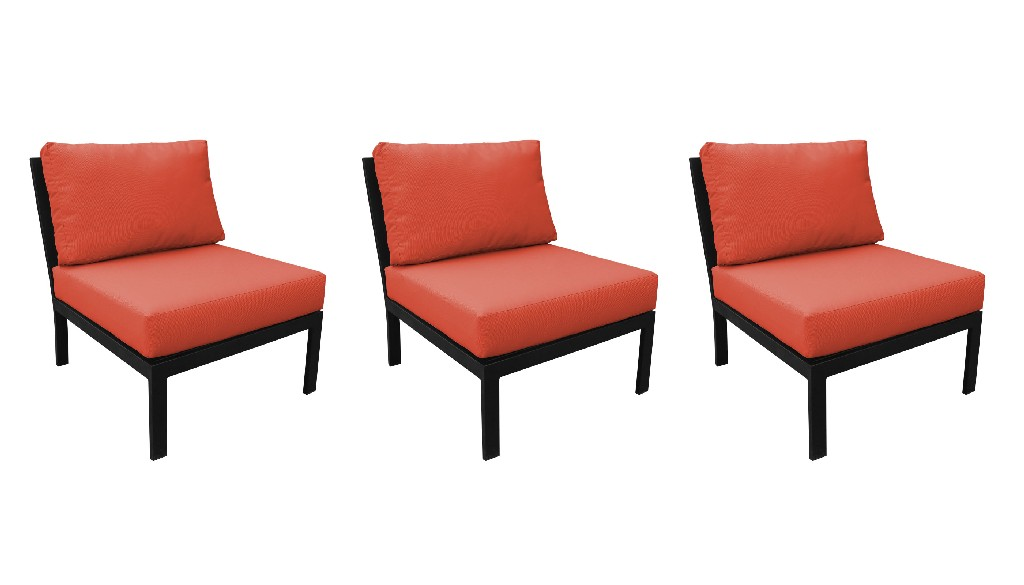 Armless Sofa Per Box Persimmon