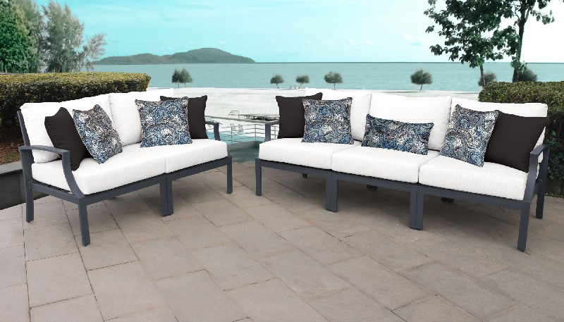 Furniture | Aluminum | Outdoor | Classic | Patio | Piece | White | Set