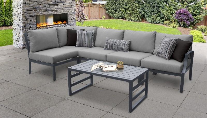 Tk Classics Outdoor Aluminum Patio Set Grey