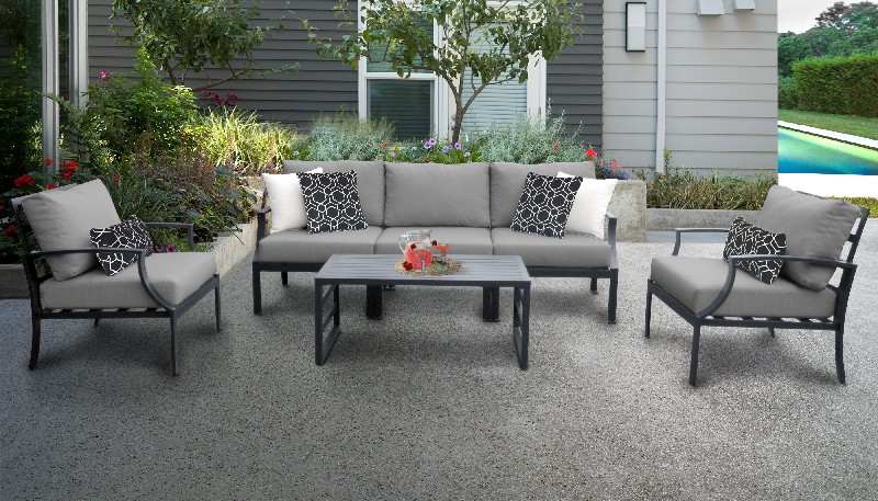 Tk Classics Outdoor Aluminum Patio Set R Grey