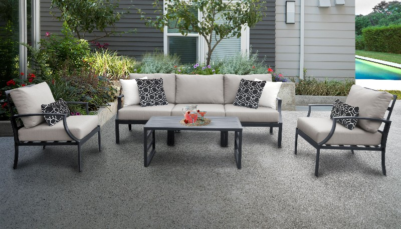 Tk Classics Outdoor Aluminum Patio Set R Ash