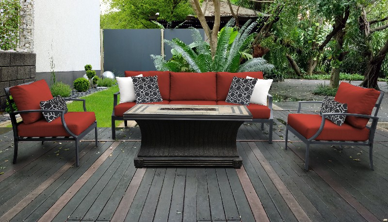 Tk Classics Outdoor Aluminum Patio Set T Terracotta
