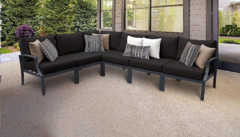 Tk Classics Outdoor Aluminum Patio Set V Black
