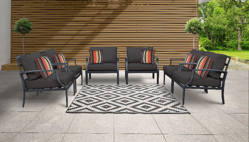 Tk Classics Outdoor Aluminum Patio Set Black