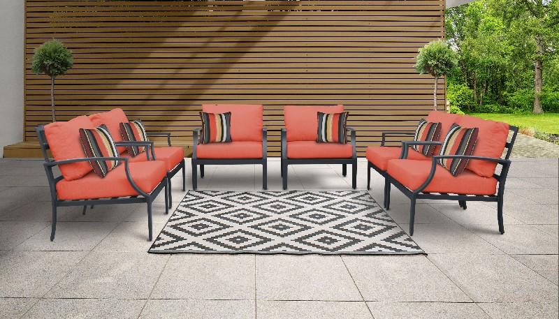 Tk Classics Outdoor Aluminum Patio Set Tangerine