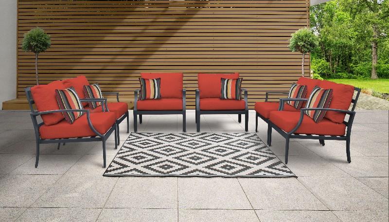 Tk Classics Outdoor Aluminum Patio Set Terracotta