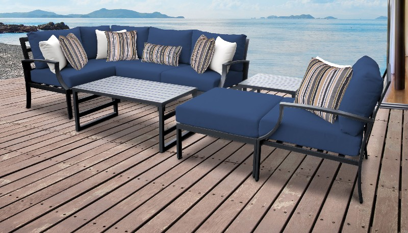Tk Classics Outdoor Aluminum Patio Set Navy