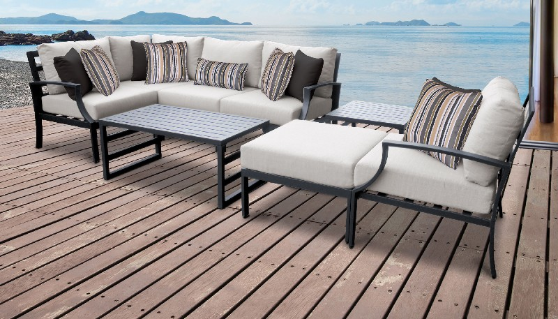 Tk Classics Outdoor Aluminum Patio Set Ash