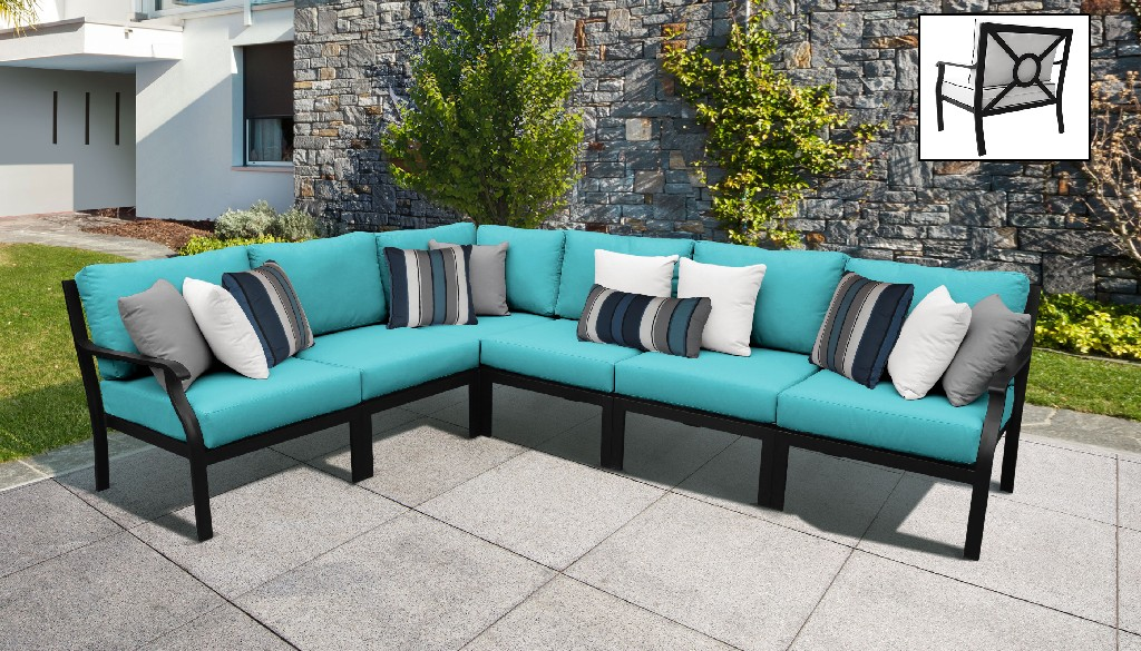 Tk Classics Outdoor Aluminum Patio Set V Aqua