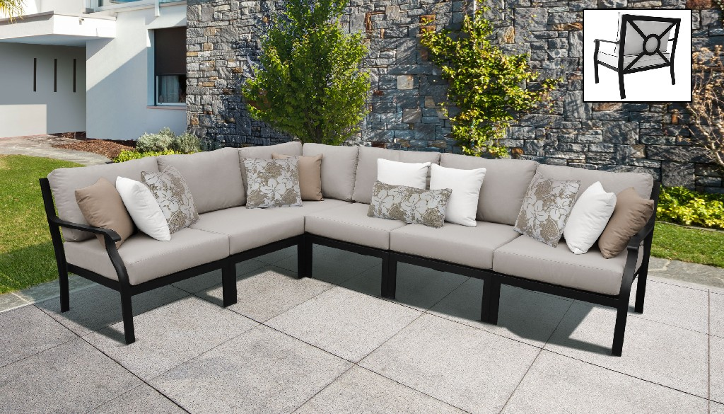 Tk Classics Outdoor Aluminum Patio Set V Almond