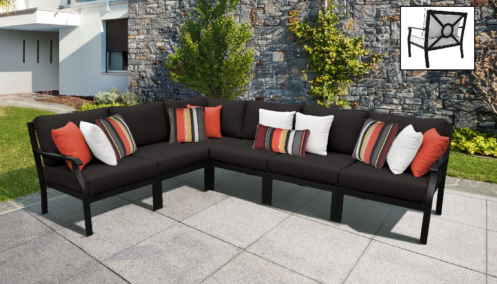 Tk Classics Outdoor Aluminum Patio Set V Onyx