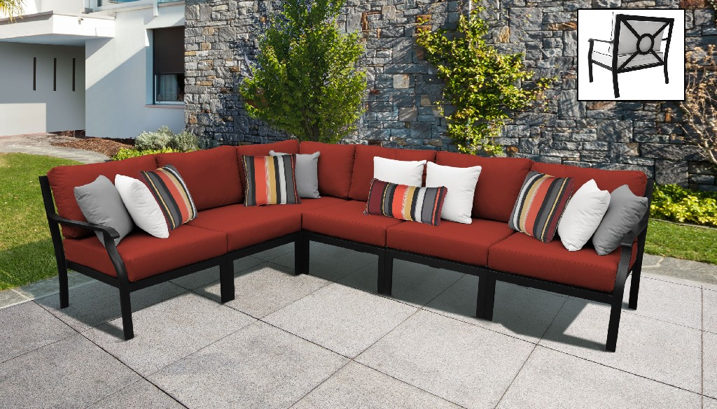 Tk Classics Outdoor Aluminum Patio Set V Cinnamon