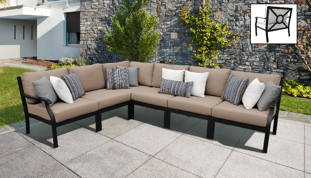 Tk Classics Outdoor Aluminum Patio Set V Toffee