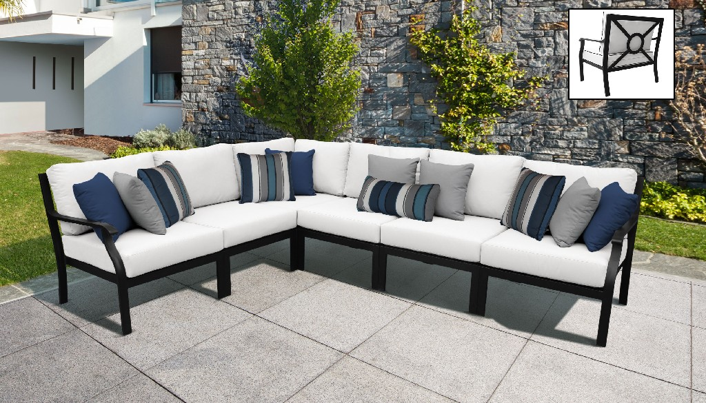 Tk Classics Outdoor Aluminum Patio Set V Alabaster