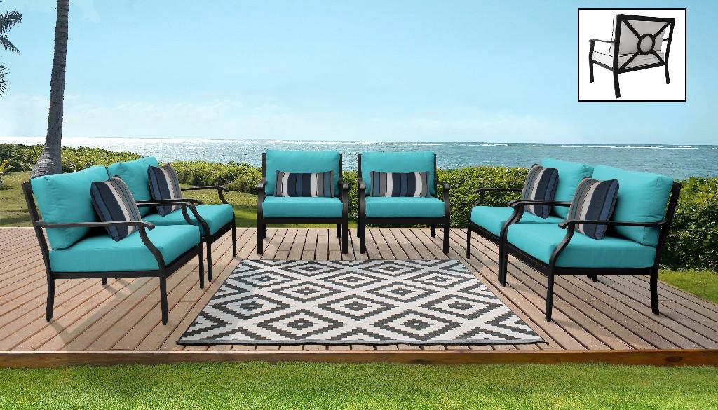 Tk Classics Outdoor Aluminum Patio Set Aqua